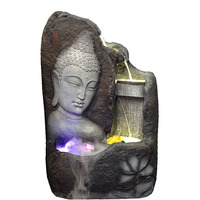 Water fountains Buddha crafts style pool water features furnishings modern home decorations rockery bonsai humidifier