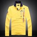 Alta calidad 2015 aeronautica militare hombres camisa de polo de manga larga venta caliente de los hombres de la fuerza aérea uno de manga larga camisa de los hombres ropa