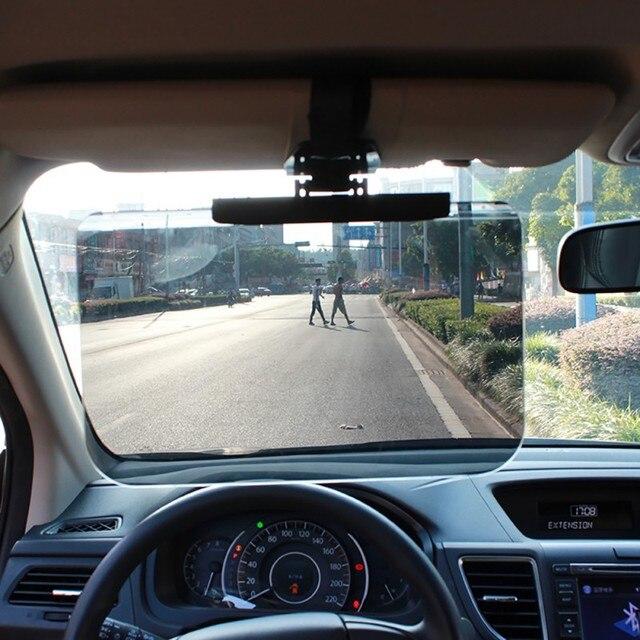 新しいカーアクセサリー車のフロントガラスサンシェードゴーグル自動格納式サイド日焼け止め日陰車太陽バイザーメガネ