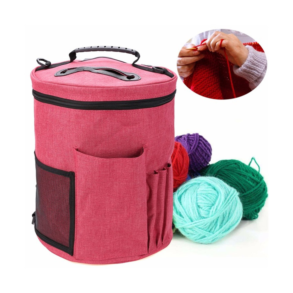 Knitting Bag Yarn Tote Organizer Bag Portable Crocheting Knitting Organizer Case For Women Mom