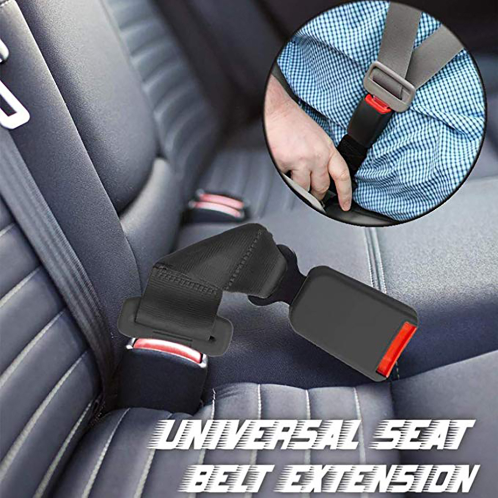 2 Pack 8/'/' Seat Belt Extender for Cars 7//8/'/' Metal Tongue E11 Safety Certified