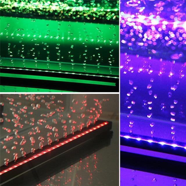 EU Plug 16-46CM 5050 RGB LED Aquarium Fish Tank Light Submersible Light Air Bubble Lamp Making Oxygen for Fish Aquarium Lighting