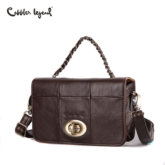 Сапожник Легенда женщины цепи из натуральной кожи сумки через плечо Новая Винтажная сумка женская через плечо сумка для женщин небольшие сумки бренда