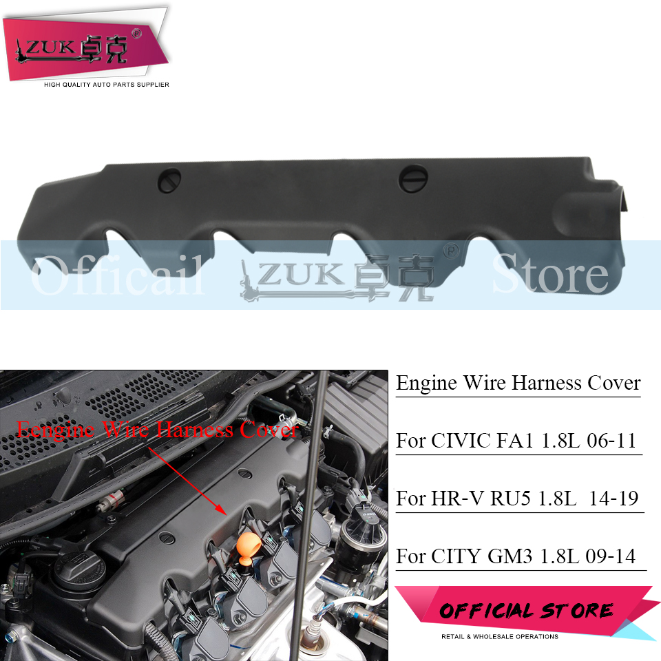 zuk engine wire harness cover case bonnet for honda for civic fa1 2006 2011  city 2009 2014 for accord vezel hrv crv 1.8l 2.0l|engine bonnets| -  aliexpress  aliexpress