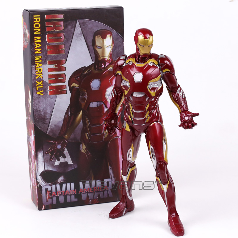 Crazy Toys Iron Man MARK XLV MK45 PVC Figure Collectible Model Toy 28cm 1 6 scale 30cm the avengers captain america civil war iron man mark xlv mk 45 resin starue action figure collectible model toy
