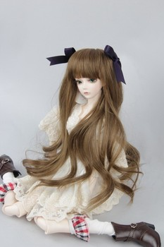 luodoll High quality BJD / SD doll wig hair bow Wavey 1/3 1/4 1/6 Free Bow image