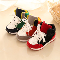 Prewalker Sneakers Cool Baby Shoes Frist Walkers Baby Boys Girls Shoes Rubber Soft Sole Lace Up