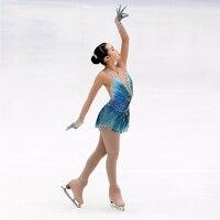 CustomizationTraditional Figure Ice Skating Clothing Girls Figure Ice Dancing Graceful New Brand Ice Skating Dresses