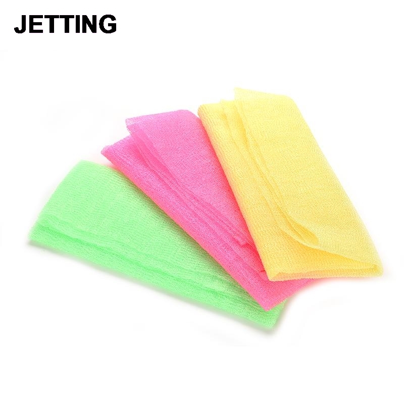 Hot Exfoliating Nylon Bath Shower Body Cleaning Washing Scrubbing Cloth Towel Sponges Scrubbers Sanitary Ware Suite