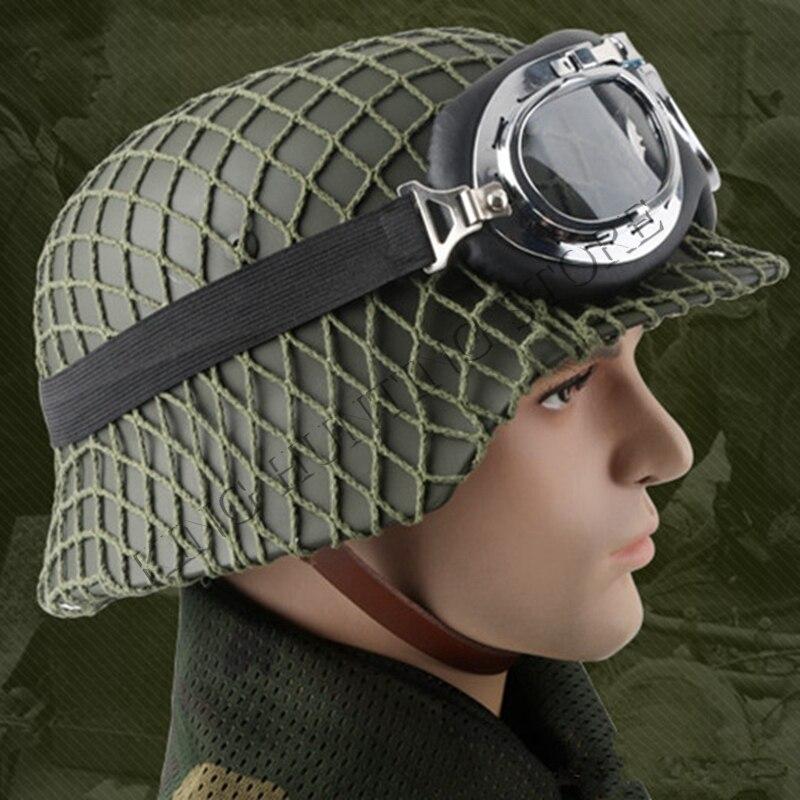 WW2 German M35 Steel Helmet WW II M35 German helmet Safety CS World War Outdoor Hunting Helmet Black Army Green motorcycle helmet world war ii german m38 wwii protective helmet paratrooper helmet