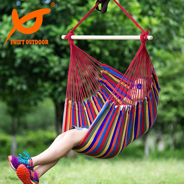 SWIFT Outdoor Leisure Outdoor Beach Chair Garden Patio Yard Hanging Rope  Hammock Chair Swing Seat For