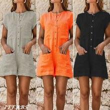 Plus Size Hot Women Playsuit Pockets Clubwear Ladies Party Bodycon Short Jumpsuit Romper Overalls 2019