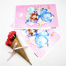 10pcs Sofia Gift Bag Candy/Loot Bag Cartoon Theme Party Festival&Event Birthday Decoration Favor For Girls Party Supplies