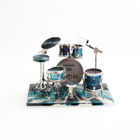 DIY 3D Metal Puzzle Model Musical Instruments Drum Set Jigsaw Assembly Creative Gift Educational Toys Puzzle