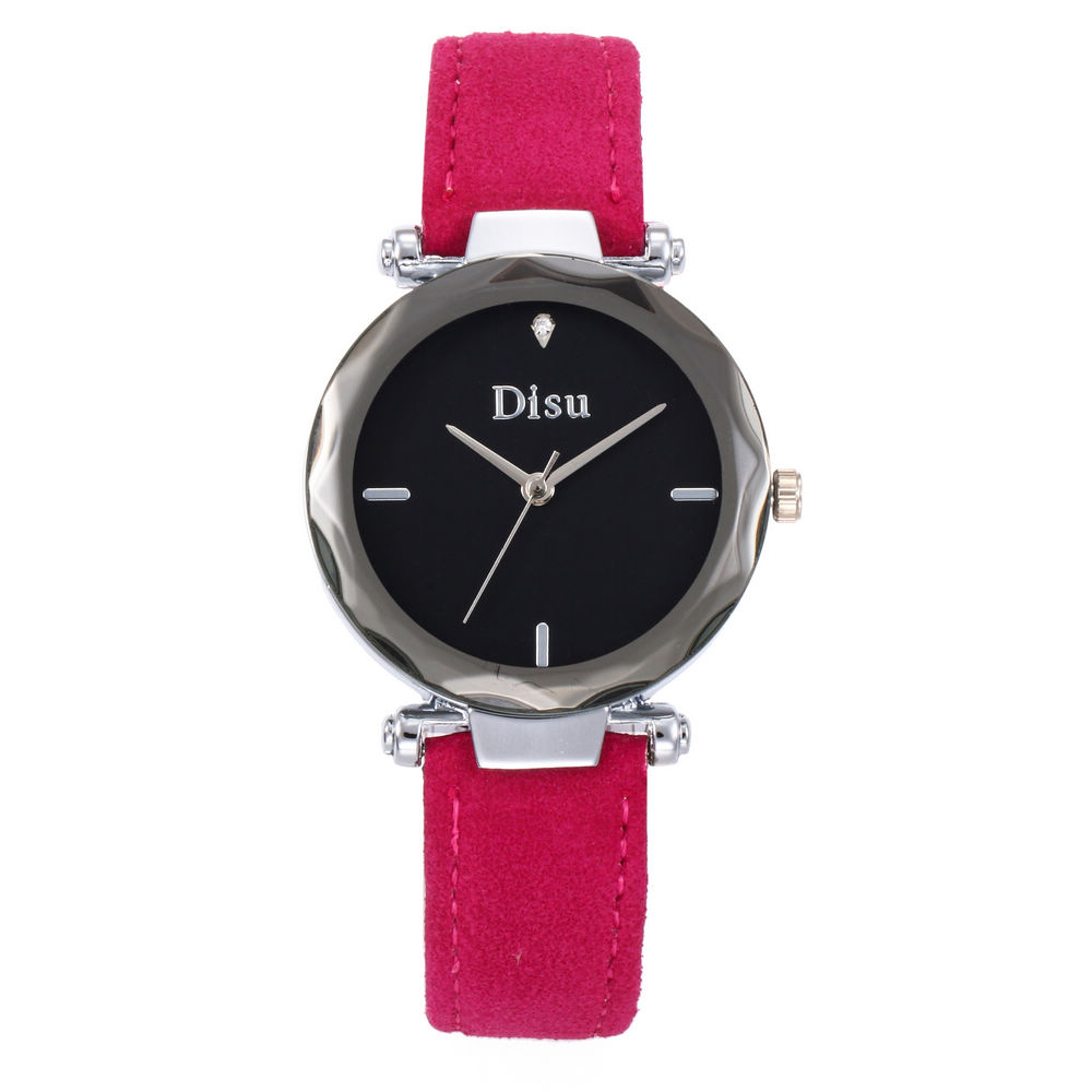 DISU New Fashion Luxury Brand Leather Quartz Women Watches Ladies Gift Femininity Wrist Watches Clock Relogio Feminino Masculino
