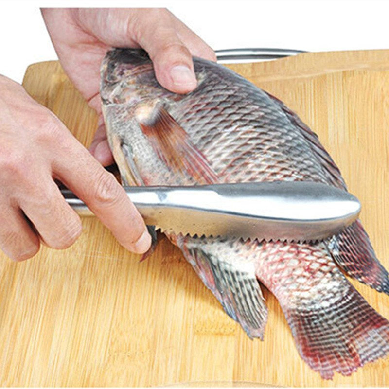 Kitchen tool cleaning fish skin scraper stainless steel for Skin it fish skinner