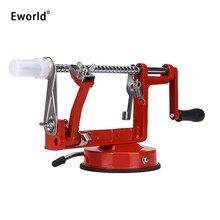 Eworld 3 in 1 Fruit Apfelschäler Schneidemaschine Edelstahl stahl Klinge Eisen Körper Apple Maschine Geschälten Kreative Heimat Küche werkzeug