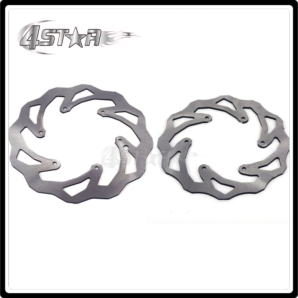 Motorcycle Front & Rear Brake Disc Rotor Set For KTM EXC EXCF SX SXS SXF XC XCW XCF XCFW 380 300 350 SXC LC4 SC Six Days orange 120l chain front rear sprockets set for ktm exc excf sx sxf sxs xc xcw xcf xcfw mx mxc lc4 smr six days motocross enduro