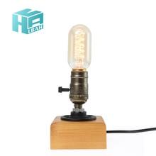 Vintage Loft E27 AC 110V/220V Table Lamp Edison Bulb For Living Room Bedroom Bedside Home Decor Coffee Shop Bar Free Shipping