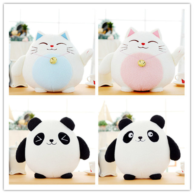 1 pc 18 cm Kawaii Keberuntungan Kucing Mewah Mainan Boneka Beruntung Kucing  Panda Dengan Bambu Tas Boneka Hewan Mewah Mainan Mobil Dekorasi hadiah 3ab8c13981