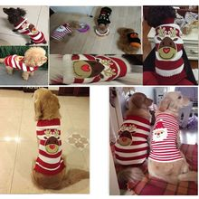 New Elk Sweater Dog Costume for Christmas Puppy