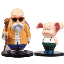 Classic toys doll Anime Dragon Ball Z Action Figures PVC Master Roshi Oolong juguetes Anime puppets
