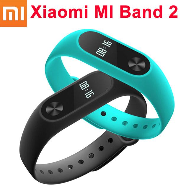 Original xiaomi mi banda 2 com touch-pad tela oled xiaomi miband 2 monitor de freqüência cardíaca pulseira inteligente pulseira inteligente