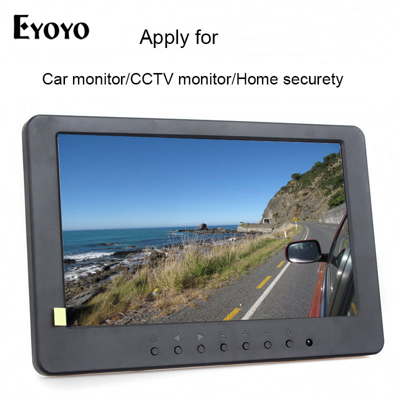 EYOYO S702 7 TFT LCD Monitor Display 1024*600 VGA AV YUV Audio Video for PC DVD TV CCTV Monitors Car Monitor with Speaker
