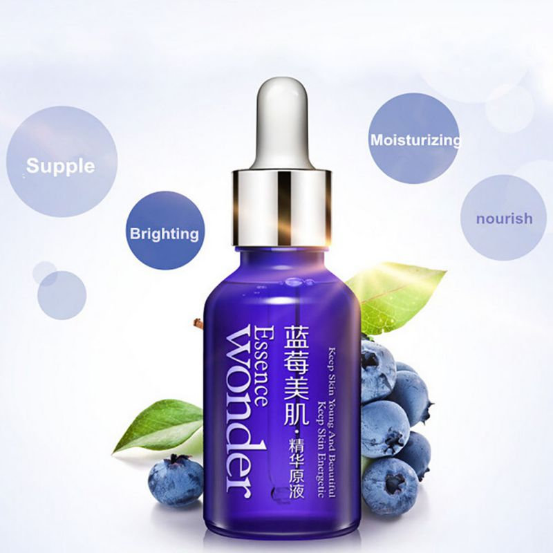 Skin Care Whitening Moisturizing Wonder Natural Blueberry Essence Hyaluronic Acid Liquid Anti Wrinkle Anti Aging Energetic Serum