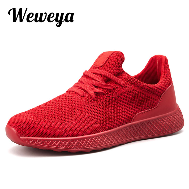 Men Fly Weave Casual Shoes Men Lightweight Sneakers Mesh Outdoor Walking Shoe Tenis Masculino Adulto 5