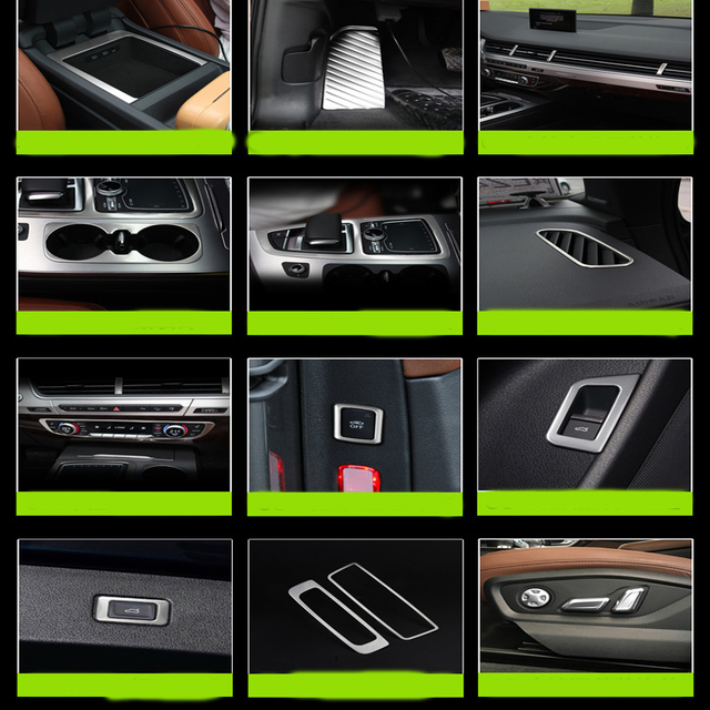Auto interior conversion decoration stainless car styling sequins outlet stand rest pedal modified Glass For New 2016 Audi Q7