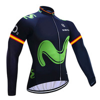 WINTER 2018 Tour France Green Cycling Jersey Windproof MTB Ropa Ciclismo Mens Women THERMAL FLEECE Bicycling