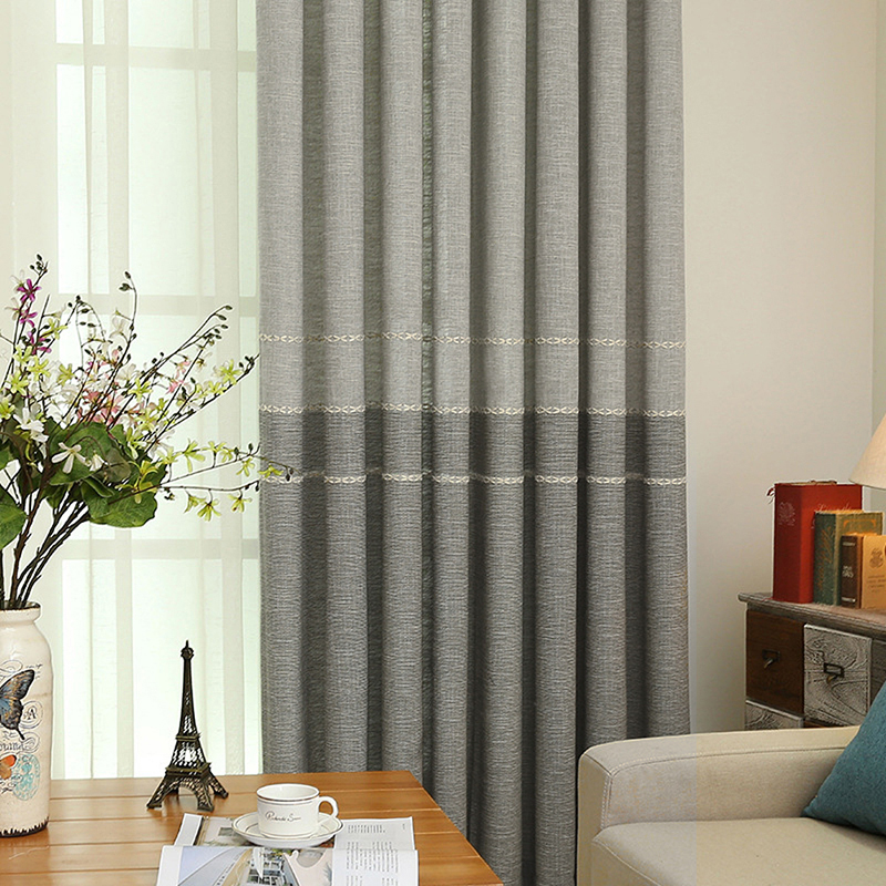 Linen Curtains Chenille American Rustic Curtinas Solid Color Modern Window Living Room Drapes Fabrics Rideaux T262 30 In From Home