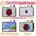 Raspberry pi 3.5 polegada hdmi LCD touchscreen tela sensível ao toque de 60 fps 3.5 polegadas de alta velocidade melhor do que 5 polegada e 7 polegadas
