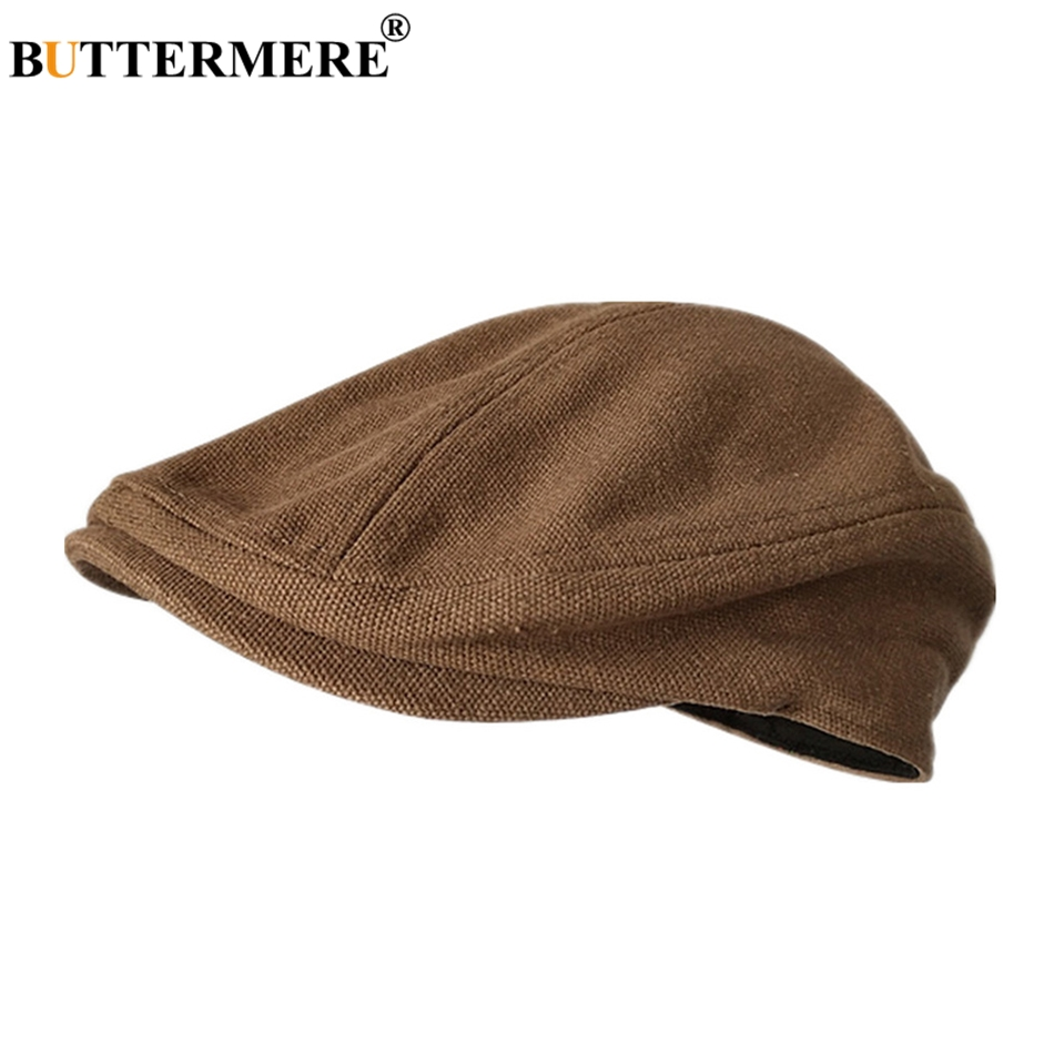 BUTTERMERE Beret-Hat Hats Flat-Cap Duckbill Gatsby Vintage Male Breathable Summer Solid