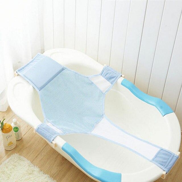 Online Shop Adjustable Baby Bath Chair Seat Folding Baby Bath Tub ...