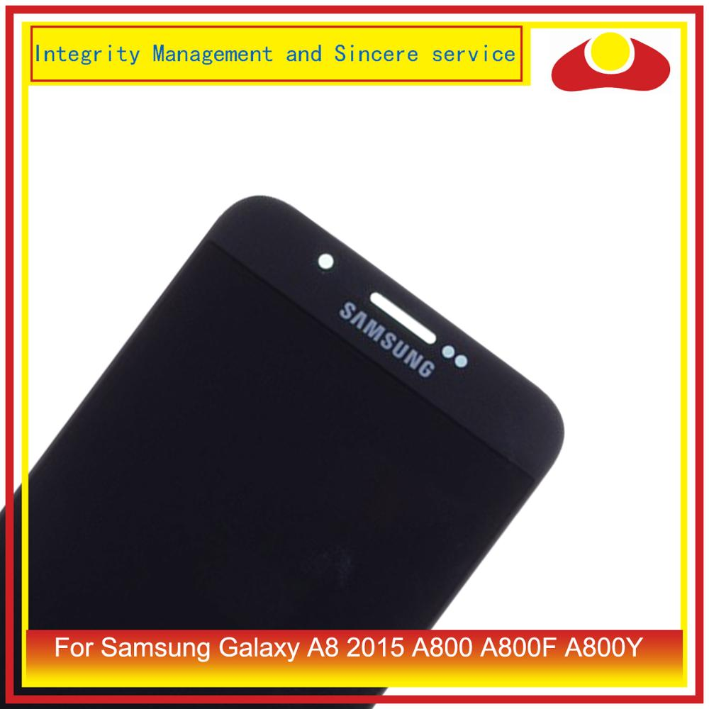 Image 2 - 10Pcs/lot For Samsung Galaxy A8 2015 A800 A8000 A800F SM A800F LCD Display With Touch Screen Digitizer Panel Pantalla Complete-in Mobile Phone LCD Screens from Cellphones & Telecommunications