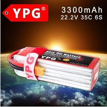 YPG 22.2V 3300mAh 35C 6S Lipo Li-Po Lipoly Battery For RC Trex Helicopter & Airplane & Car