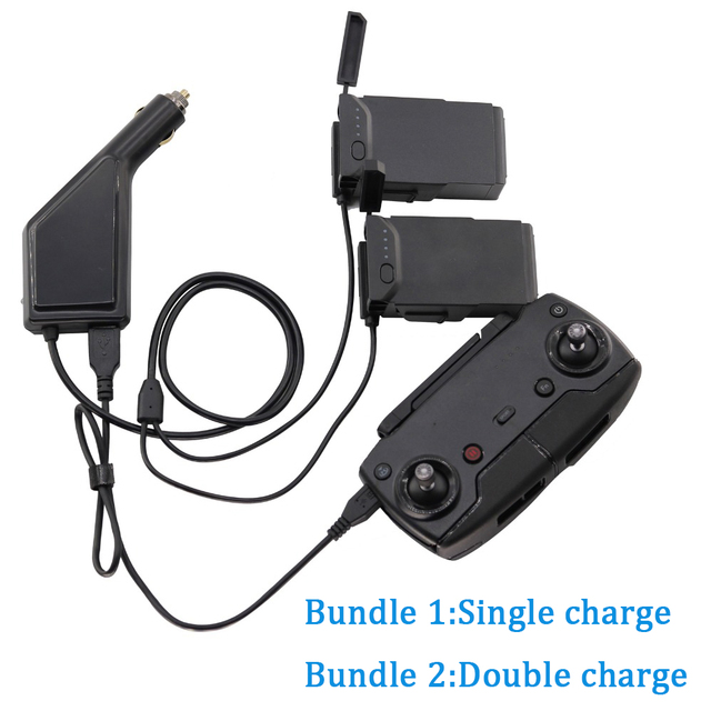 3in1 Car Charger For DJI Mavic Air Intelligent Battery Charging Hub Mavic Air Connector USB Adapter Multi Battery Car Charger