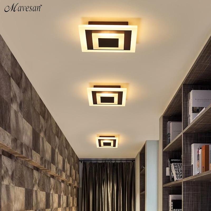 Modern ceiling lights 12w for hallway balcony corridor Coffe white light lamps bedroom luminaria teto acrylic lamparas de techo|Ceiling Lights| |  - title=