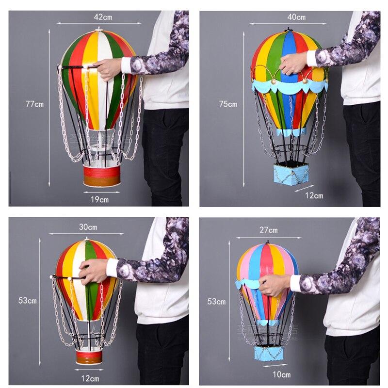 2019 mode créatif rétro vieux faire fer chaud Air ballon pendentif tenture murale maison vêtements magasin Bar café doux décoration