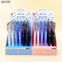 40 Pcs/1 Lot Kawaii Crystal Fashion Paw Press Mechanical Pencils School Office Supply Student Stationery Kids Automatic Pencil