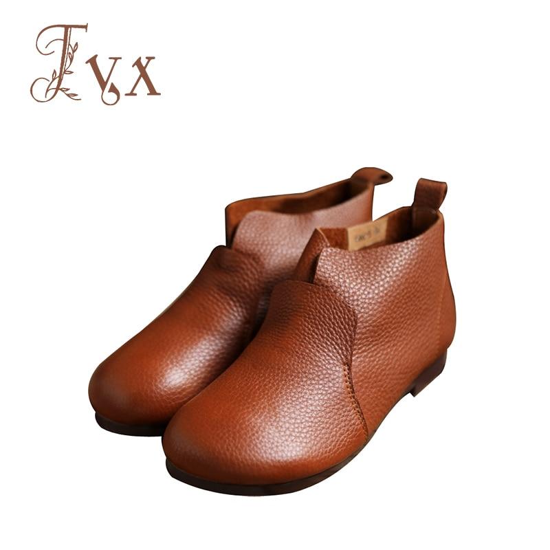 Mujeres on Bajos 2018 Tayunxing De Retro 5 Cuero Comfort 6066 Genuino Botas Zapatos Mano Slip Hechos Tacones A rXqpWZ1Pq