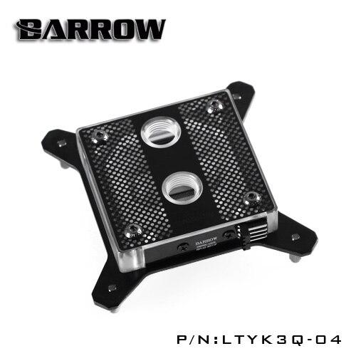Barrow RGB 115X transparent acrylic CPU waterblock 0.4MM microcutting micro waterway for Intel LGA-1151 1155 LTYK3Q-04