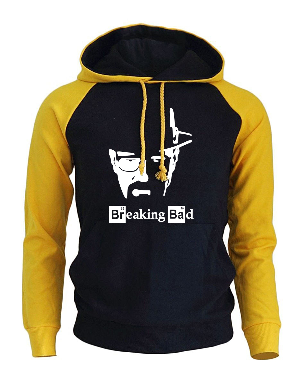 BREAKING BAD Print Streetwear 2019 Men's Hoodies Autumn Winter Raglan Hoody Sweatshirt Brand Sportswear Harajuku Fleece Pullover