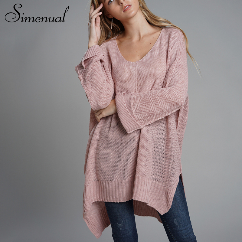 Oversized Batwing Sleeve Lady's Sweater, Knitwear V Neck, Long Pullover 10