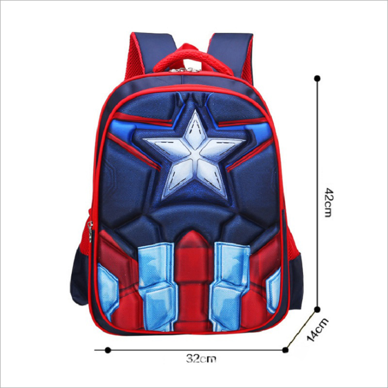 Hot High Quality Eva 3d Captain America Children School Bags Boy Spiderman School Backpack Suitable For 6-12 Years Old Kids Bag #4