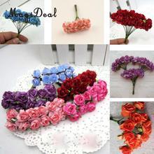 MagiDeal прекрасный 144 шт./лот искусственные бумажные розы бутоны мини Букет DIY ремесло для свадьбы Сад Home Валентина день, Декор