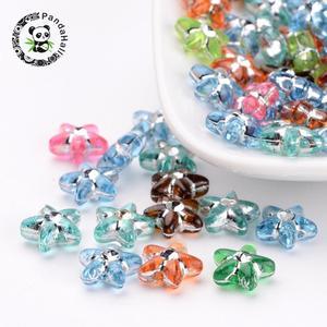 Красочные акриловые бусины для ювелирных изделий DIY Изготовление браслета ожерелья Аксессуары около 2800 шт/500 г, отверстие: 1 мм