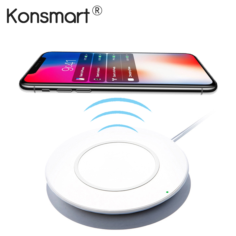 Konsmart Original Qi Wireless Charger Adapter For Apple iPhone 8 Plus iPhone 10 X Fast Wireless Charging Desktop Type